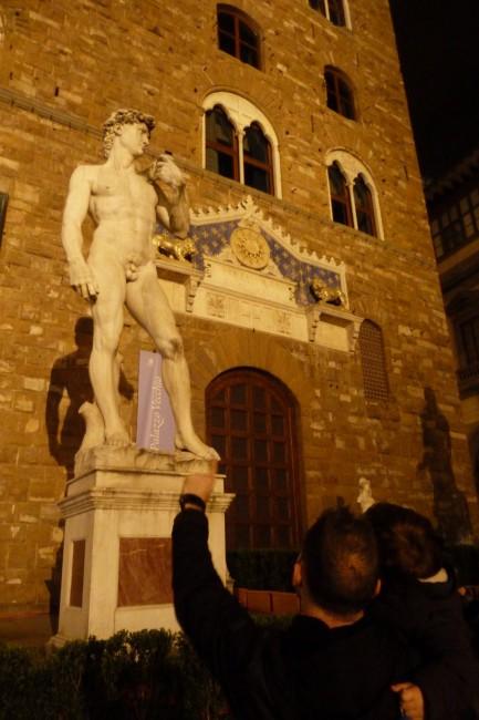 Escultura del David de Miguel Angel, Florencia