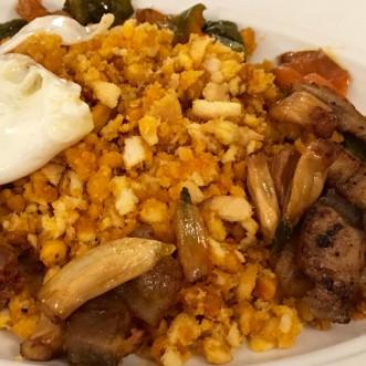 Plato de migas, restaurante tabula calda, Merida