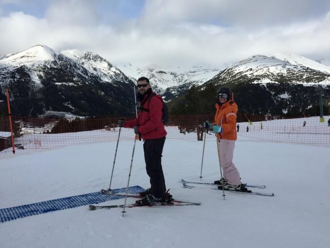 Alex y Sandra esquiando, Grandvalira